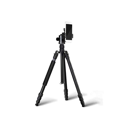 FEANG 62.6' trípode de cámara, de Aluminio Ligero de 360 Grados Cabeza de la Bola del trípode de Monopod Profesional con Bluetooth Remoto, el Monte de teléfono for Viajes (Color : A)