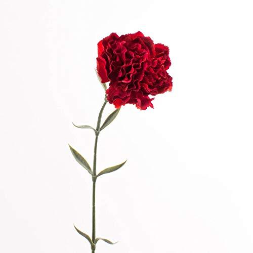 artplants.de Künstliche Nelke, rot, 65cm, Ø 9,5cm - Kunstblume Nelke - Textilblume
