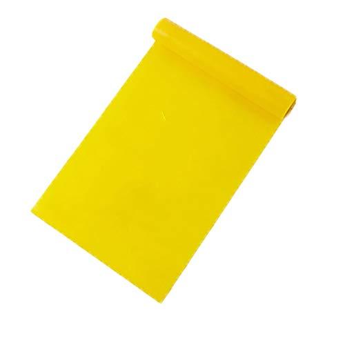 WSXD 4 Farbe Yoga Fitness-Widerstand-Bänder Elastische Stretch Tension Zugseil Übung Indoor-Training Workout Sportgymnastik-Ausrüstung 18-36-50lbs (Color : S-Yellow)