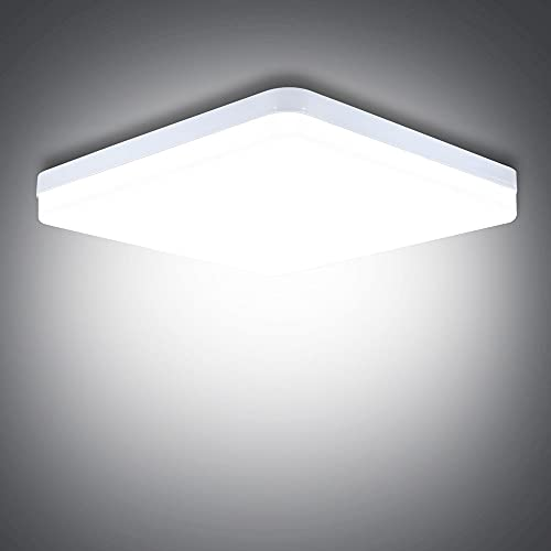 LED Ceiling Light, 36W Daylight White Ceiling Light 6500K, 3240LM Bright Indoor Ceiling Lights for Bedroom, Kitchen, Hallway, Outside Porch and More [Energy Class A+]