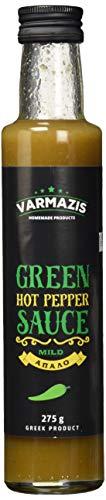 Varmazis Green Hot Pepper Sauce - Grüne Scharfe Sauce, 250 ml