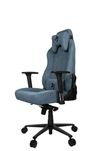 Arozzi Vernazza Soft Fabric Chair, Stoff, Blue, Large