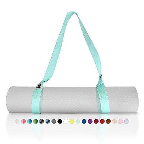 Tumaz Correa para colchoneta de yoga:[Colchoneta no incluida]correa elástica y soporte para colchoneta,(más de 15 colores, 2 tamaños de opciones)con textura extra gruesa, duradera y cómoda y delicada
