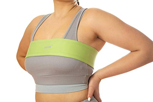 Herclé Sportswear/Brustkompressionsband mit Hakenverschluss/alternativer Sport BH starker Halt große Brüste/Brustgürtel