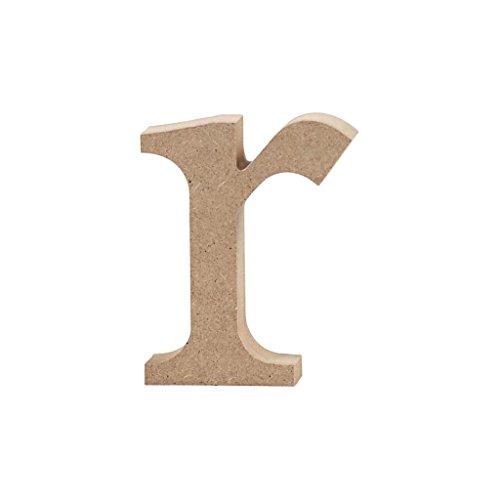 Lettre, h: 8 cm, MDF, r, 1 pièce