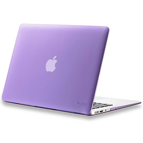 Kuzy MacBook Air 13 inch Case A1466 A1369 Soft Touch Cover for Older Version 2017, 2016, 2015 Hard Shell - Light Purple