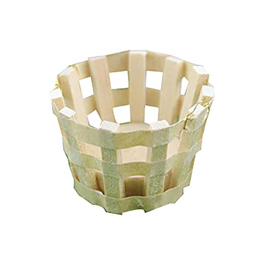Mggsndi Miniature Wooden Round Basket Table Play Furniture Decor Doll House Accessory, Fashion Modern Design Doll House Kids Adult Pretend Toy, Creative Birthday Handcraft Gift White -  AROET8P15W9202E3Z6PY0226O
