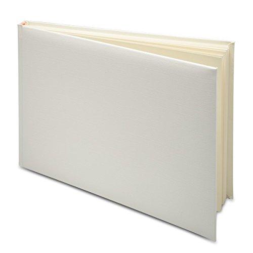 Club Green Ivory Guest Book in PVC Box 245X170 Card 25 x 17.5 x 2 cm