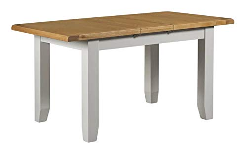 Lucca Range Solid Oak Extending Dining Table Available In 2 Sizes 4 to 6 or 6 to 8 Seater (Small Table120x150 cm)