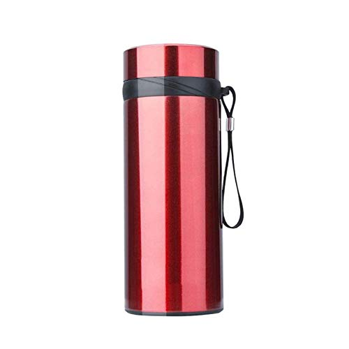 Vacuum Insulated Flask Men And Women High-capacity High-grade 304 Cup With Filter Tea Cup Portable Stainless Steel Cup Coffee Cup Portable Travel Outdoor Household Cup Red Bpa Free ( Color : Red )