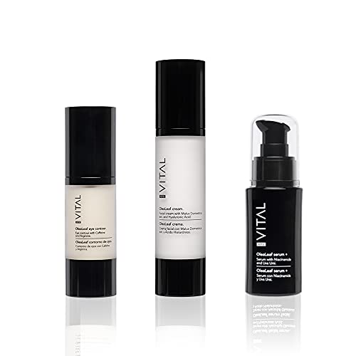 Pack Cremas Faciales Mujer Set Belleza Crema Hidratante Facial + Serum Facial Mujer Plus + Contorno de Ojos Antiarrugas Mujer Cremas Faciales Mujer