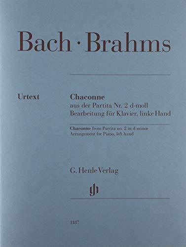 Chaconne aus der Partita Nr. 2 d-moll (Johann Sebastian Bach), Bearbeitung für Klavier, linke Hand