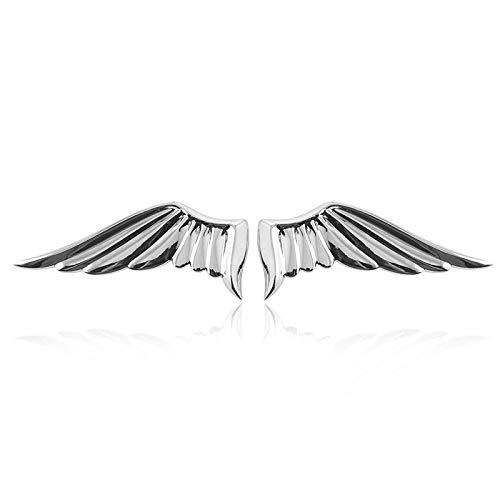 SKYLULU Auto Persönlichkeit Engel Flügel Flügel Auto Aufkleber Engel Metall 3D Körper Aufkleber Auto Schwanz Logo Modifikation Logo Dekoration