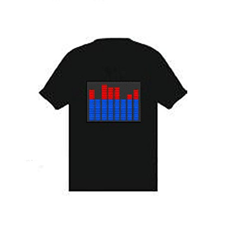 Classic Equaliser Balance Chart Sound Reactive Equalizer EL Flashing T-Shirt - Taille XL