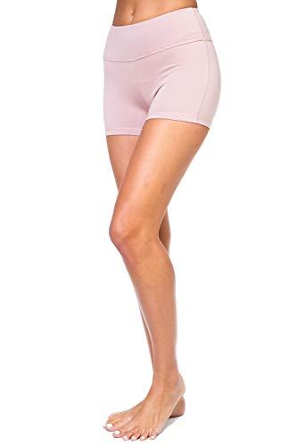 AEKO Damen Active Fitness Sport Yoga Booty Shorts für Laufen Gym Workout - Pink - 36/38 DE/S