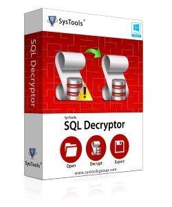SysTools Décrypteur SQL (Livraison par courrier électronique - pas de CD)