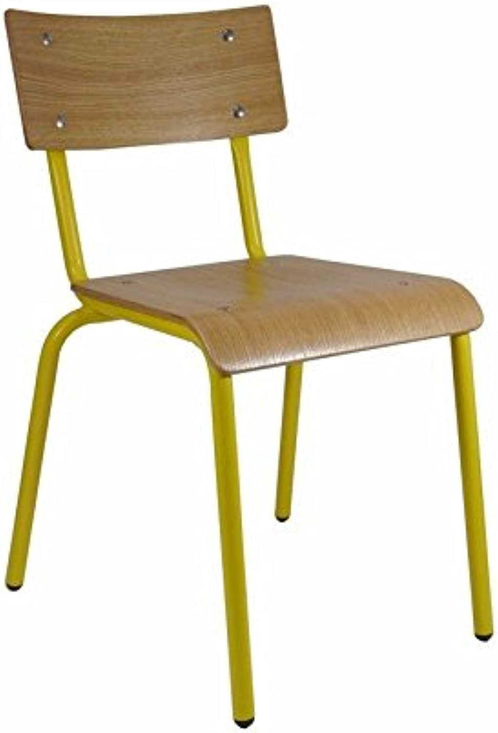 Skinner Cafe Restaurant Chair Retro Chairs Oak Duck Yolk Yellow
