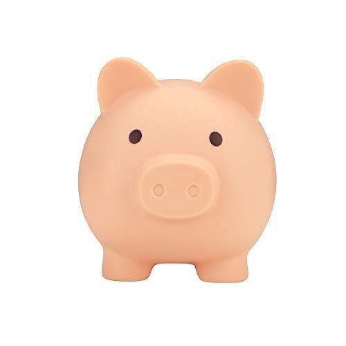 Preciosa hucha con la parte inferior de la tapa giratoria de gran capacidad de cerdo Hucha buen regalo para los niños de los cabritos de almacenamiento Bancos de Dinero (Pinck-S)