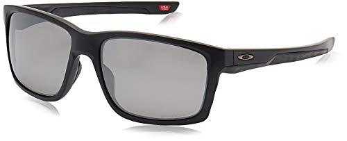 Oakley Men's OO9264 Mainlink Rectangular Sunglasses, Matte Black/Prizm Black Polarized, 61 mm