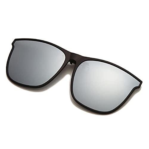 ZHOUSAN Gafas de sol polarizadas con clip para hombre, fotocromáticas para conductor de coche, gafas de visión nocturna, antideslumbrantes, vintage, cuadradas, Oculos