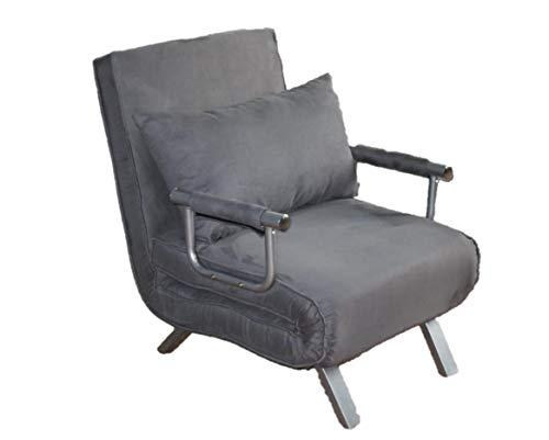 ITALFROM Divano Letto Sofa Bed Grigio 65x69x82h Divanetti Divano Letto 1 Piazza - cod.4034