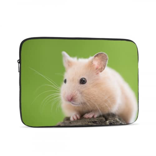 Laptop Protective Case Cute Hamster On A Stone Macbook Air Computer Case Multi-Color & Size Choices10/12/13/15/17 Inch Computer Tablet Briefcase Carrying Bag