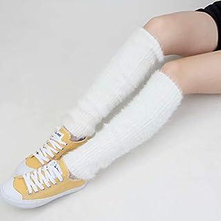 Pu?os de arranque de cable Calcetines de punto Mujeres Crochet de punto de invierno Calentadores de rodilla hasta la rodilla para ni?as Chunky Calentadores de rodilla de tobillo gray One