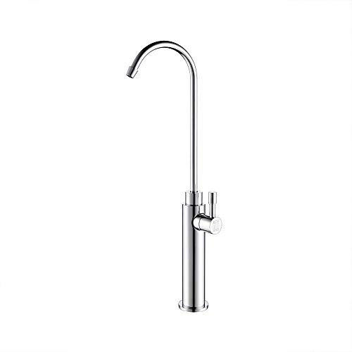 Best Bargain Kitchen Osmosis Drinking Water Filter Faucet Straight Water Dish Single Rotated Faucet Office Full Brass Round Tap