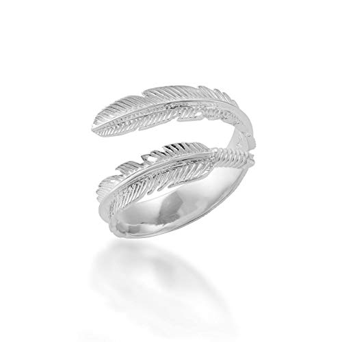 Feather Ring Adjustable Sterling Silver