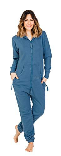 Moniz Damen Jumpsuit (S, Jeans Blau)