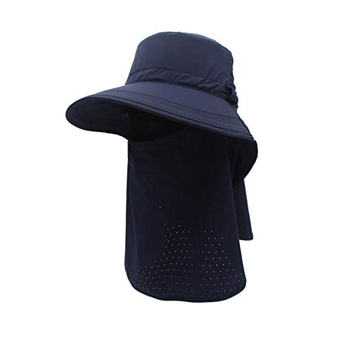 Vrouwen zonnehoed bescherming tegen de zon Hoed van de Visserij gezicht te bedekken Wide Brim Outdoor Neck Flap Summer Cap