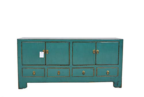 Fine Asianliving Antieke Chinese TV Meubel Teal - Tianjin, China 138_x_66_x_38_cm1812170
