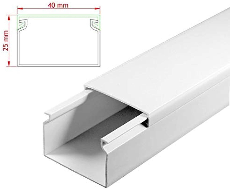 SCOS Smartcosat AVC-317 19m Kabelkanal Weiß zum verschrauben 19x 19x 19x 100cm 40x25mm Deckenkanal Besteehend aus Unterteil und Oberteil zur Montage direkt auf der Wand B07NLMF6TR   Stilvoll und lustig  ccab2b