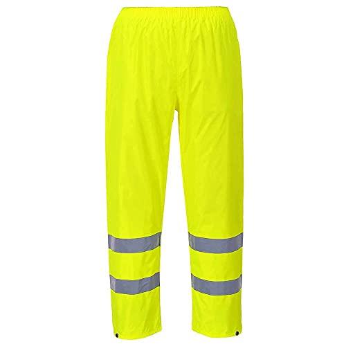 Portwest H441 Pantaloni Antipioggia ad Alta Visibilità, Giallo, L