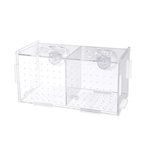 POPETPOP Aquarium Zucht Isolation Box Aquarium Inkubator Brutkästen Elternschaft Box multifunktionale Acryl Aquarium Halter 20 * 10 * 11 cm (Saugnapf Muster)