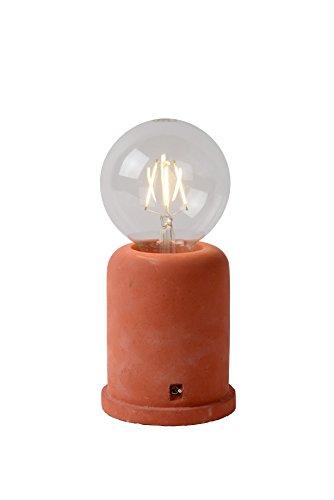 Lucide MABLE - Lampe De Table - Ø 10 cm - Bordeaux