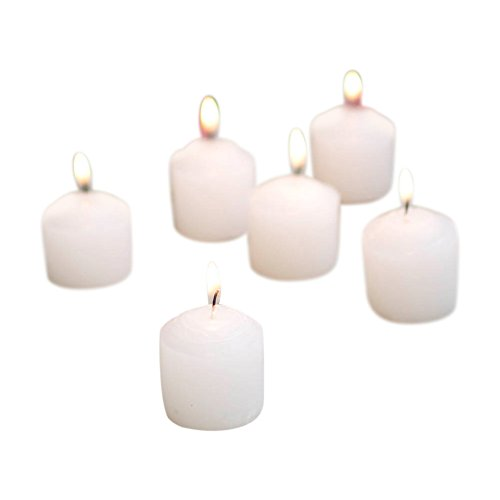 Votive Candle Event Pack, 10 hr burn, Unscented Wax, White, Pk of 288