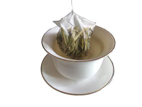 Bacilio 福鼎白毫銀針 トップクラス 白茶 有機白茶 ホワイトティー 福建省福鼎産 ベタークラス 白茶芽 (強力な抗酸化物質が豊富) 三角カバン ティーバッグ 原産地出荷する ((福鼎白毫銀針 约51g(3g*17袋)))