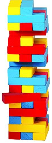 Goki - Torre de equilibrio de madera, 45 piezas (Gollnest Kiesel KG G1005/973) Multicolor (HS973)