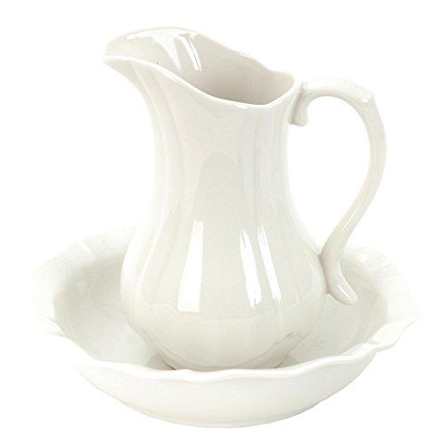 Clayre & Eef 60291 2-teiliges Wasch-Set Bad-Set weiß