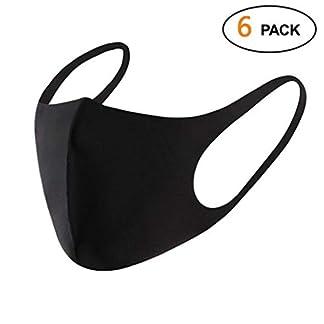 Snner 10 Piezas máscaras de algodón blanco 3+ Piezas de Máscaras de Boca Antipolvo Unisexo Mascarilla (13pcs)