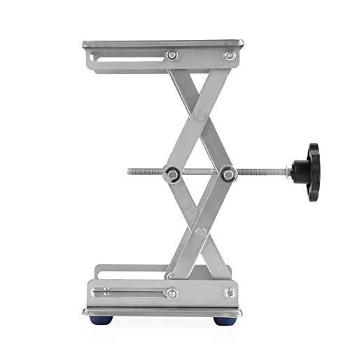 """6\""""Edelstahl Jack Stand Scherenlabor Hebebühne/Faltbare Hubtisch Pad 150 * 150 * 250mm für Wissenschaftliches Experiment"""