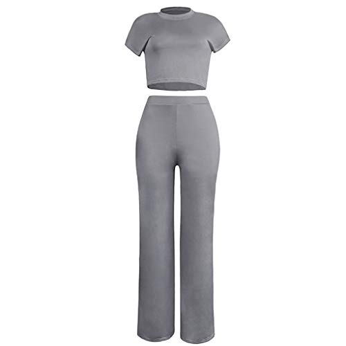 Buy Discount Missli Women's Tracksuits 2 Pieces Outfits Cropped T Shirt and Long Pants Set Summer Sp...