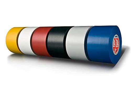 Tesa 4163 Isolierbänder, PVC Kunststoff beschichtet, Halterung, Acryl, selbstklebend, 130 μm, 33 m x 50 mm, Gelb, 36 Stück