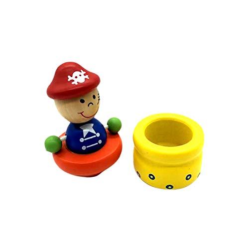 Milchzahndose Zahndose aus Holz Milchzähne Kinder -diverse Modelle- (Pirat)