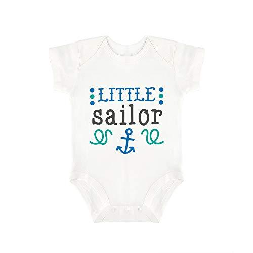 Promini Lindo bebé mono pequeño marinero bebé mono bebé una pieza mameluco mejor regalo para bebé