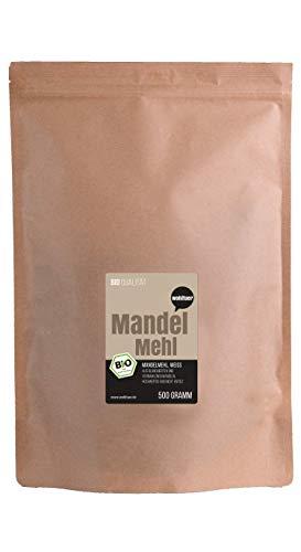 Wohltuer Bio Mandelmehl - Glutenfrei, Cholesterinfrei & Nährstoffreich- Vegetarisch und Vegan -...