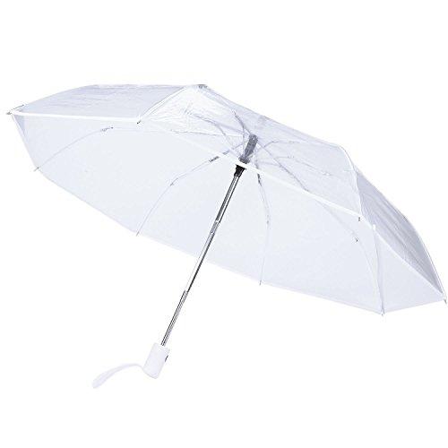 Yantan Ombrello trasparente automatico pioggia donna Maenner Sun pioggia ombrello compatto pieghevole stile antivento ombrello trasparente trasparente bordo bianco