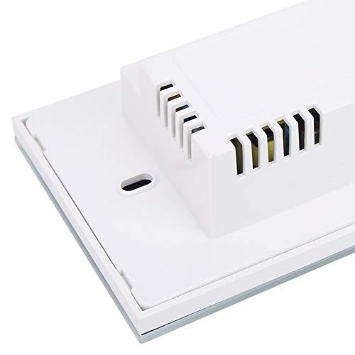 Interruptor inteligente de encendido/apagado de luz, Wi-Fi teledirigido blanco 95-240VAC Funciona con Google Home