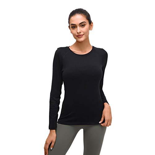 LDDOTR Langarm-Trainingskleidung, Yoga-Oberteile Für Frauen Mit Daumenlöchern Sport-T-Shirts Für Laufübungen Yoga Fitness,A,XL